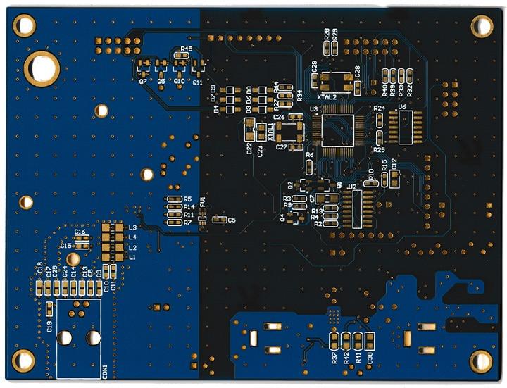 placa pcb de un equipo de comunicaciones gsm/gprs diseñado a la medida
