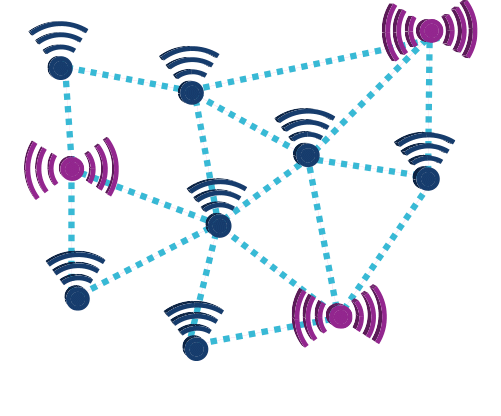 wireless sensor networks - nodes and routers thumb